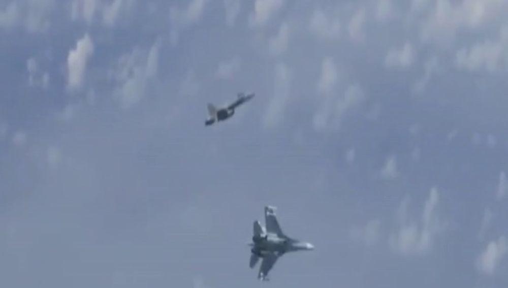 Incidente entre un caza español y dos aviones rusos sobre el mar Báltico
