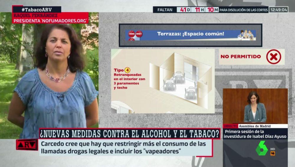 """Raquel Fernández: """"La ley antitabaco en las terrazas se está incumpliendo masivamente"""""""