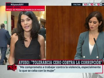 """Isabel Serra: """"Ayuso se ríe de los madrileños diciendo que luchará contra la corrupción cuando no da explicaciones sobre sus escándalos"""""""