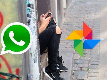 WhatsApp y Google Fotos