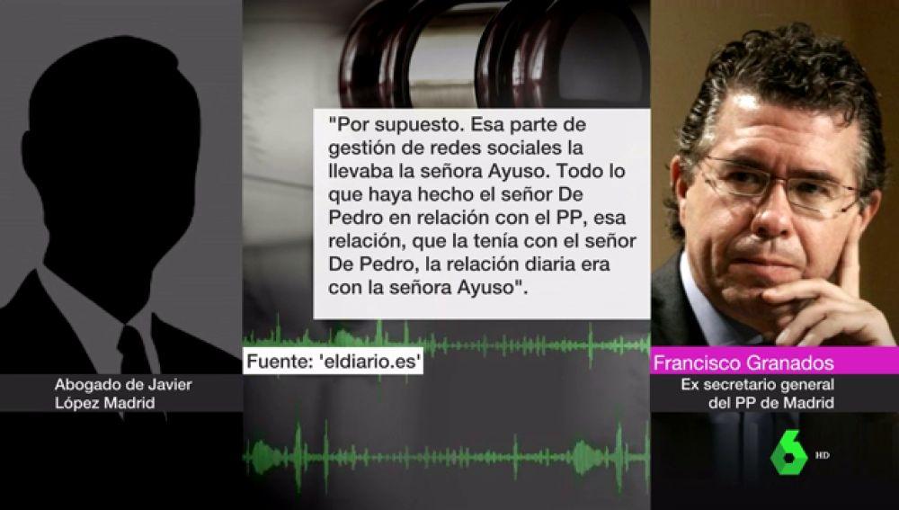 """Granados reaparece para exculpar a Díaz Ayuso en la trama Púnica: """"No decidía nada de nada"""""""