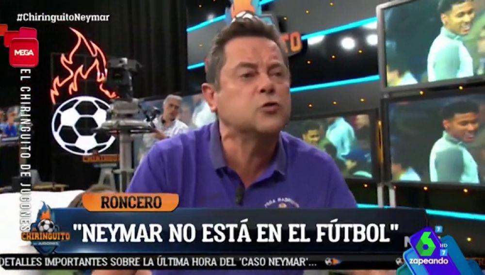 La tensa reacción de Tomás Roncero tras las imágenes de Neymar