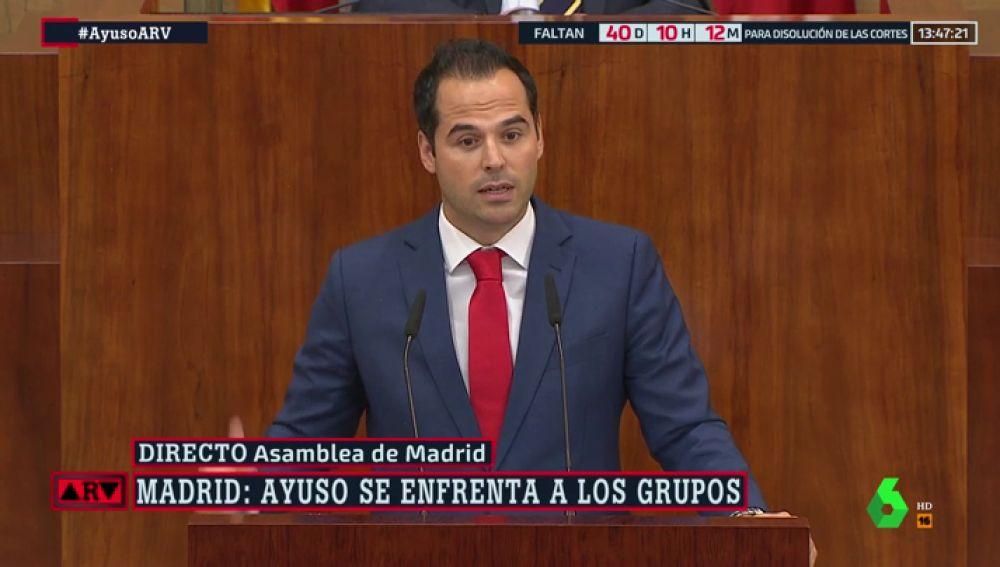 """Ignacio Aguado arremete contra Érrejón: """"Empezó apoyando a Castro y después a Chávez. Sus ideas dan bastante miedo"""""""