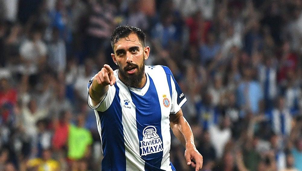 Borja Iglesias, celebrando un gol con el Espanyol
