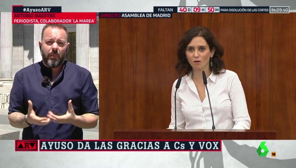 """Antonio Maestre: """"Ayuso ha asumido las exigencias de Vox y ha convertido el feminismo en misoginia"""""""