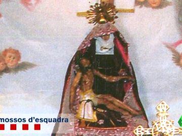 """El llamamiento de los vecinos de Berga tras el robo de su Cristo: """"Pedimos que nos lo devuelvan, esto es una vergüenza"""""""