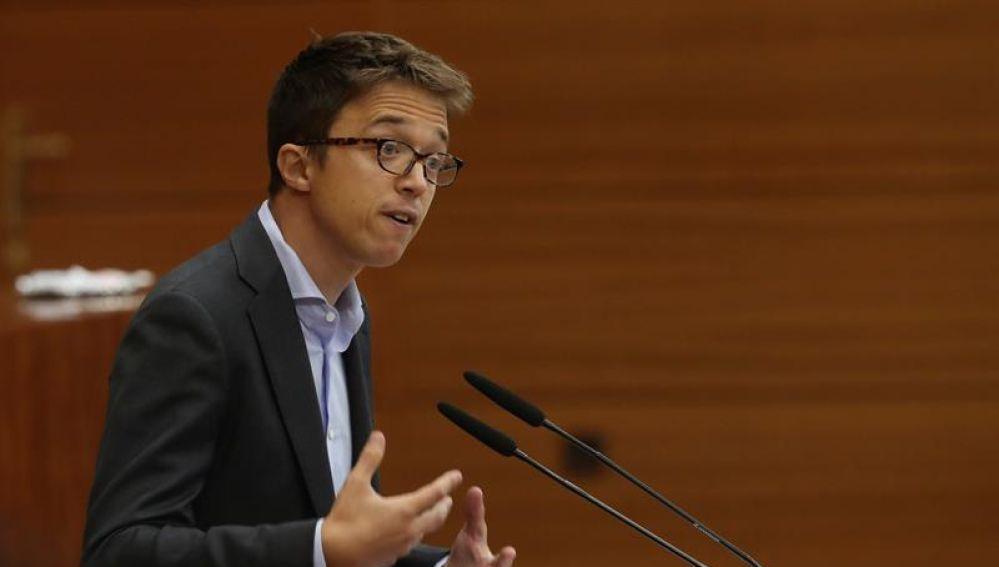 El portavoz de Más Madrid, Íñigo Errejón