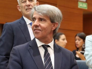 Ángel Garrido, durante la sesión de investidura de Isabel Díaz Ayuso
