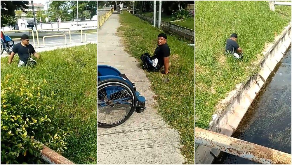 El deportista Abu Fathiyyaturahma salva a un gato
