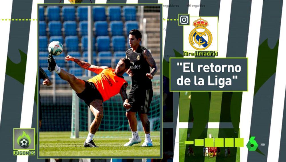 Fotos y 'follows' cómplices: James y su vuelta a la normalidad en el Real Madrid
