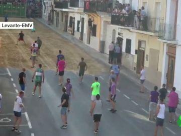 Un joven resulta herido tras recibir una cornada en los Bous al Carrer de Faura, Valencia