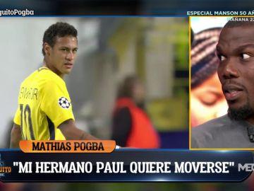 """El recado del hermano de Pogba a Neymar: """"Lo que hace no es profesional, Paul no hará lo mismo"""""""