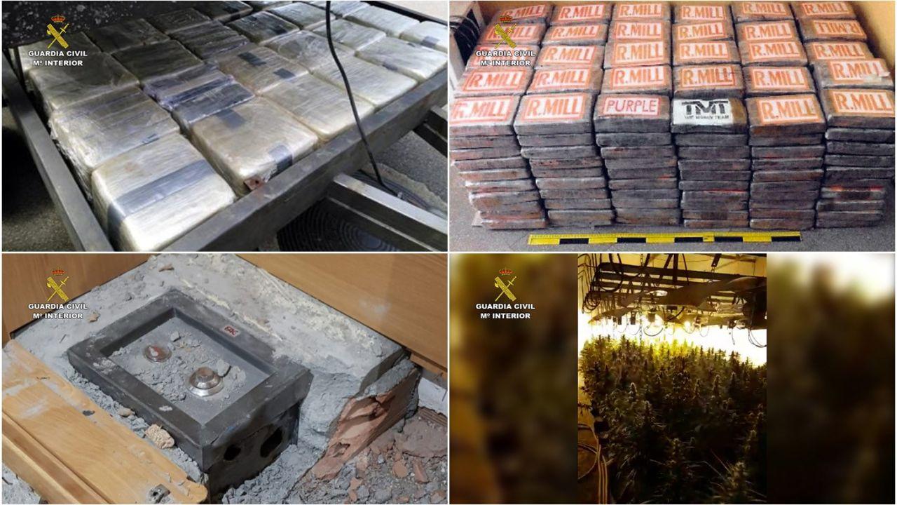 Desarticulada una red que introducía cocaína en España y Portugal con un sofisticado remolque