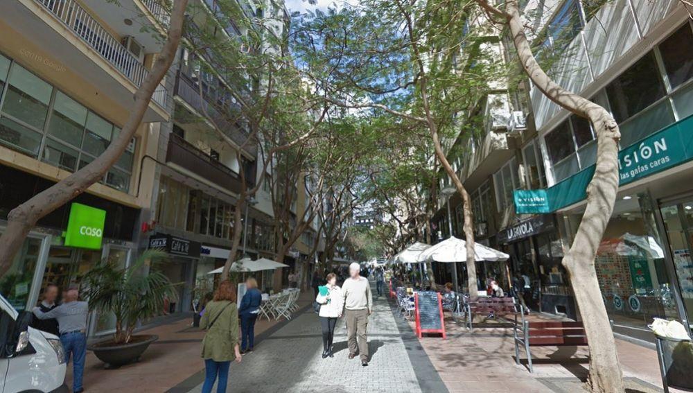Calle en la que se produjeron los hechos en Santa Cruz de Tenerife