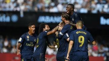 El Real Madrid celebra un gol de Kroos