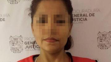Foto pixelada de la asesina condenada