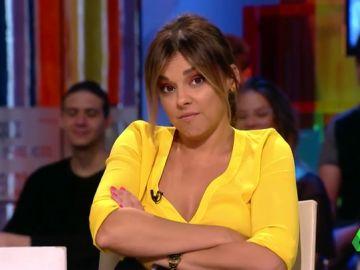 """La rabieta de Chenoa (con pucheritos incluidos) al perder en el juego de '¿Español o guiri?': """"No respiro. Me ahogaré en vivo"""""""