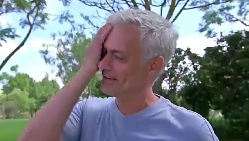 José Mourinho, entre lágrimas