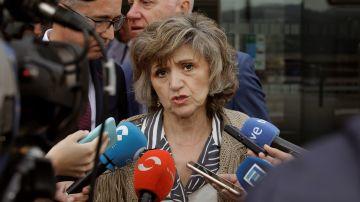 La ministra de Sanidad, Consumo y Bienestar Social en funciones, María Luisa Carcedo