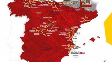 El recorrido completo de la Vuelta a España 2019