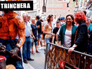 Ada Colau, en las fiestas del barrio de Gràcia