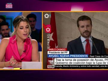 Valeria Ros reconoce el especial sexappeal de Casado en Zapeando