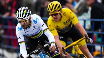 Alejandro Valverde, durante una etapa