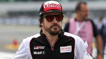 Fernando Alonso, antes de una carrera