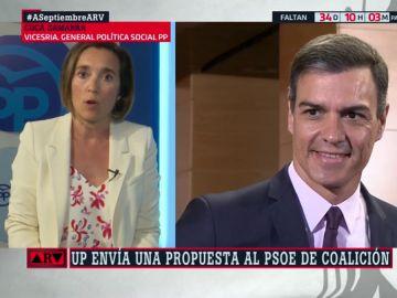 "Cuca Gamarra (PP): ""Pedro Sánchez está gobernando a golpe de tuit como si aquí no estuviera pasando nada"""