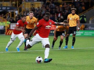 Paul Pogba, instantes antes de acometer el lanzamiento de un penalti