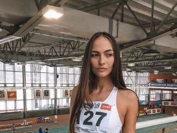 La atleta rusa Margarita Plavunova