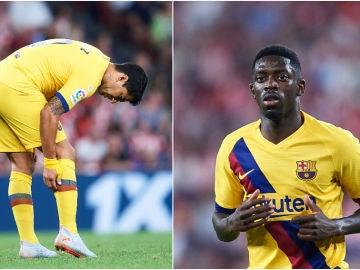 Suárez y Dembelé, lesionados