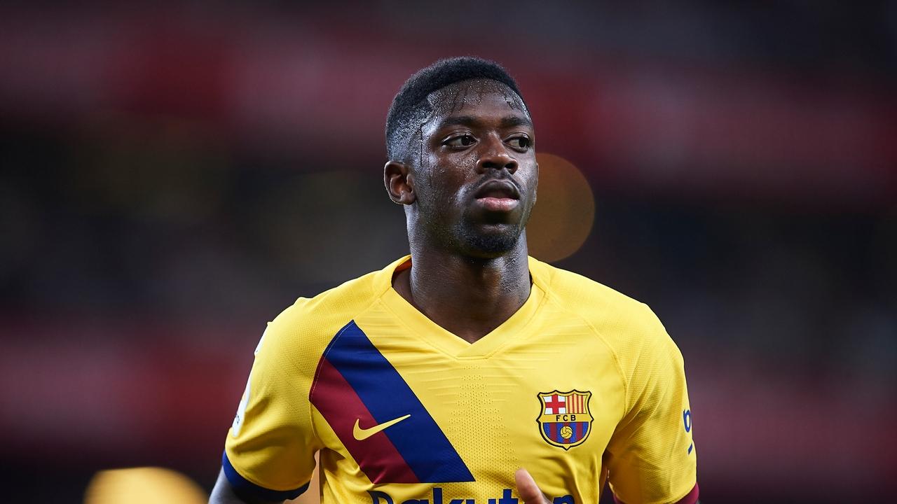 Ousmane Dembélé, con el FC Barcelona