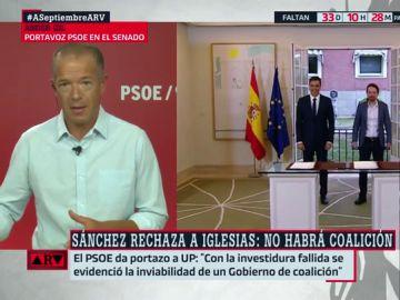 """Ander Gil: """"Podemos ya rechazó un Gobierno de coalición al PSOE, no volveremos atrás"""""""