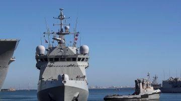 Vista del buque de la Armada española Audaz