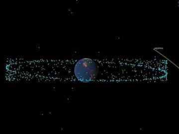 Este es el recorrido que hará el asteroide Apofis en 2029