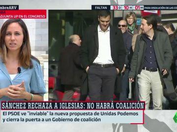 """Ione Belarra insiste en un Gobierno de coalición: """"Será más estable si gobiernan más escaños que la suma de las tres derechas"""""""