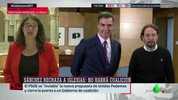 """Raquel Romero, tras el pacto en La Rioja: """"Podemos y PSOE han llegado a acuerdos en toda España, la excepción es el Gobierno nacional"""""""