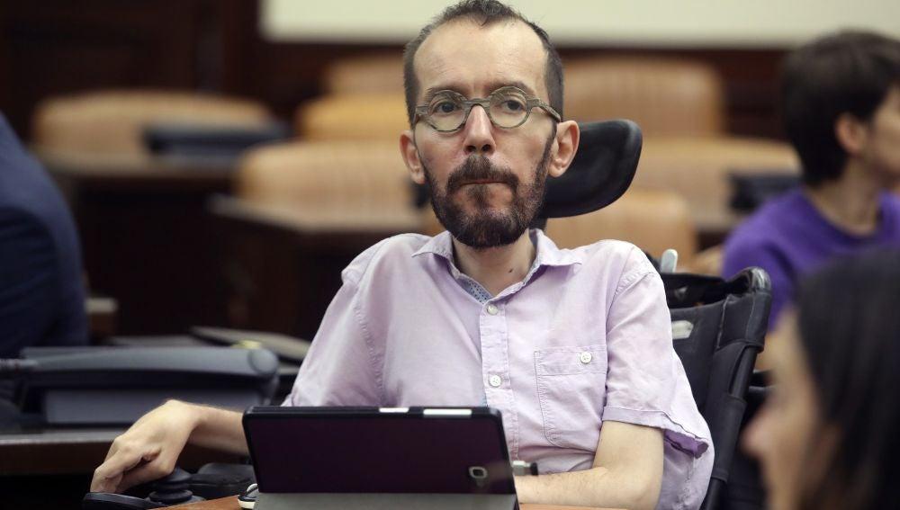 El secretario de Acción de Gobierno de Unidas Podemos, Pablo Echenique.