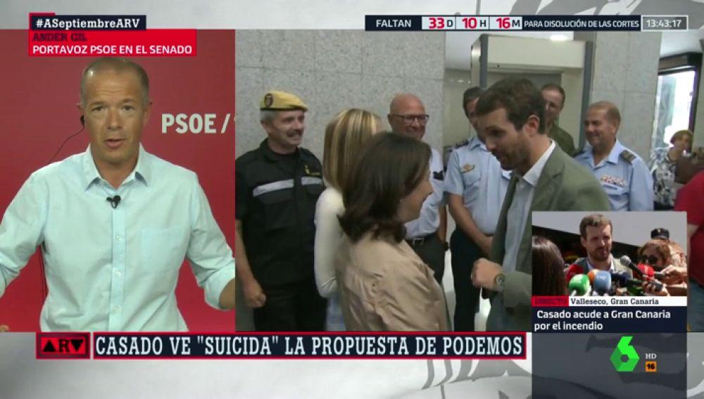 """Ander Gil: """"Pablo Casado, aliado con la ultraderecha de Vox, no está legitimado para hablar de inmigración"""""""