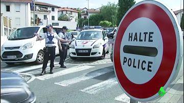 Imagen de los controles de Policía entre Francia y España por la cumbre G7