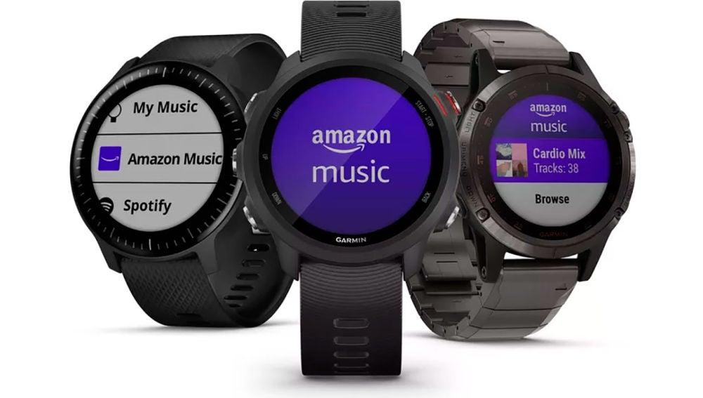 Amazon Music en los smartwatch de Garmin