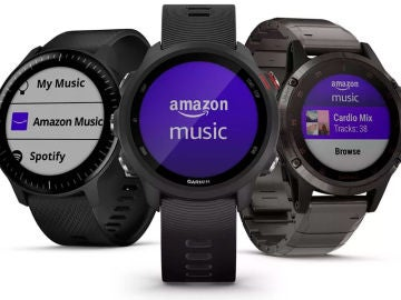 Amazon Music en los smartwatch de Garmin