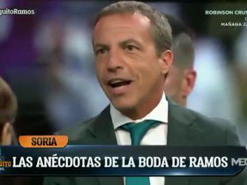 """Cristóbal Soria y la """"encerrona"""" de los jugadores del Real Madrid en la boda de Sergio Ramos: """"Como salga lo de los 'coches locos'..."""""""