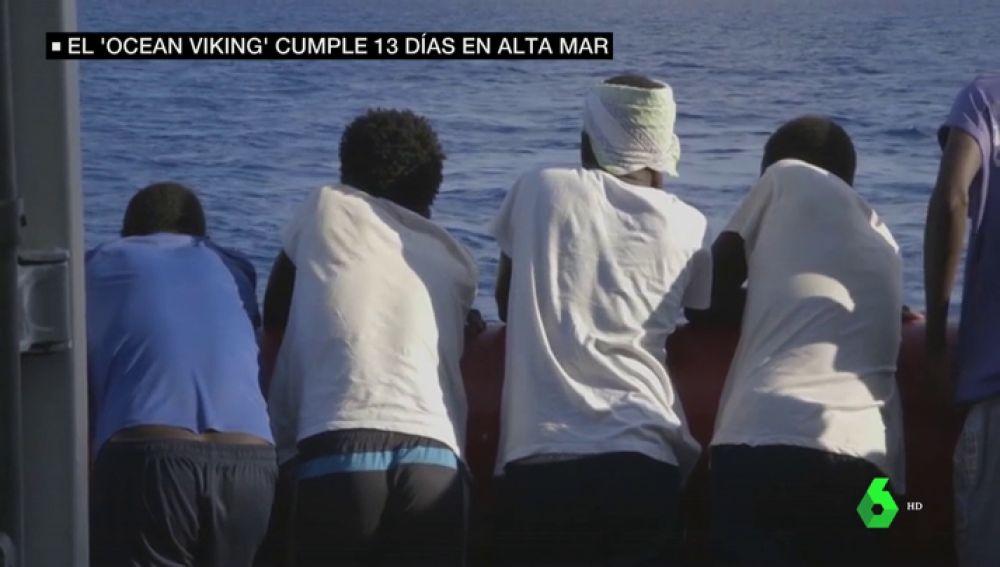 Migrantes en el Ocean Viking