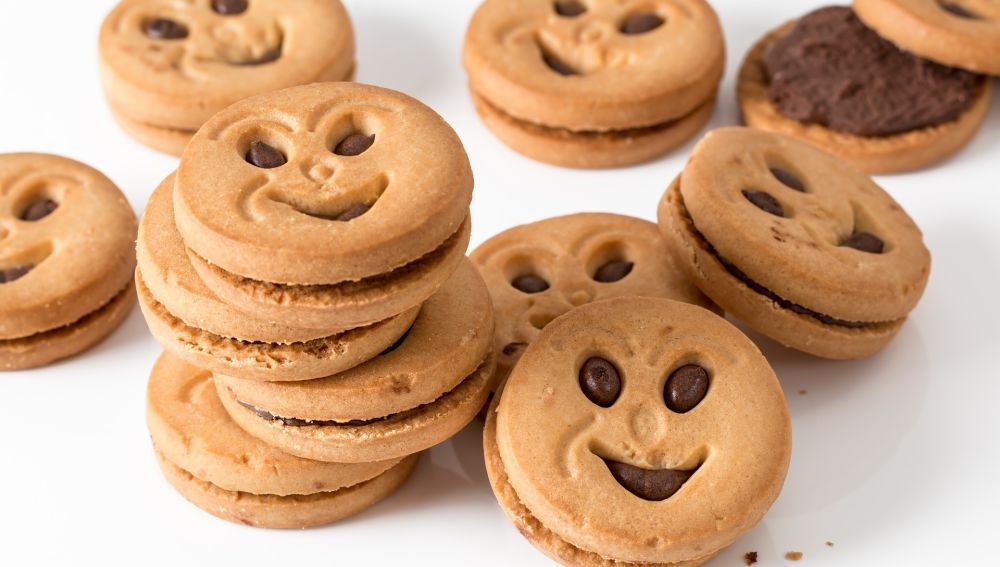 Imagen de archivo de unas galletas de chocolate.