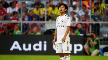 Kubo, durante un partido con el Real Madrid