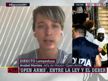 """La jefa de misión del Open Arms: """"Está claro que no hemos sido nosotros los que no hemos seguido la ley"""""""