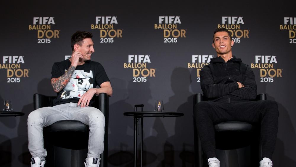Leo Messi y Cristiano Ronaldo, en la gala del Balón de Oro