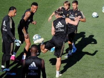 Imagen de un entrenamiento del Real Madrid en Valdebebas